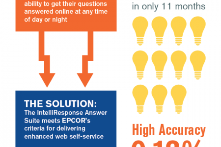 Utility Company Electrifies its Customer Support With Virtual Agents Infographic