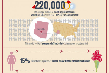 Valentine's Day Facts Infographic