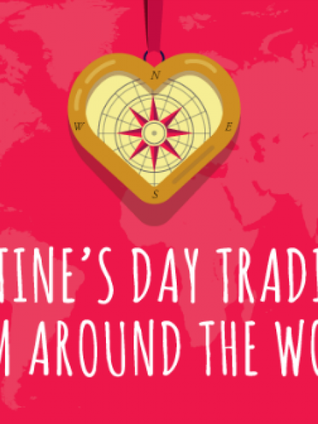 Valentine's Day Traditions from around the World Infographic