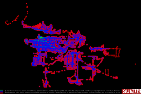 Vancouver Transit (Translink) Coverage Map: May 7th, 2014 Infographic