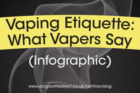 Vaping Etiquette: What Vapers Say Infographic