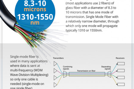 Varieties of Fiber Optic Cables Infographic