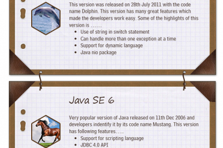 Various Java Versions and their Features Infographic Infographic