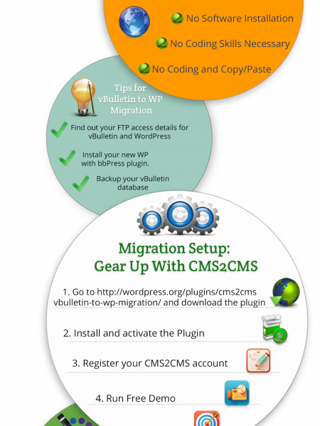 Automated vBulletin to WordPress Migration Infographic