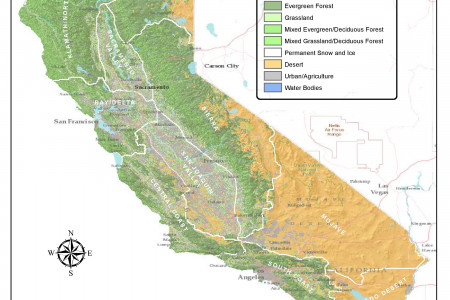 Vegetation Index - California Infographic