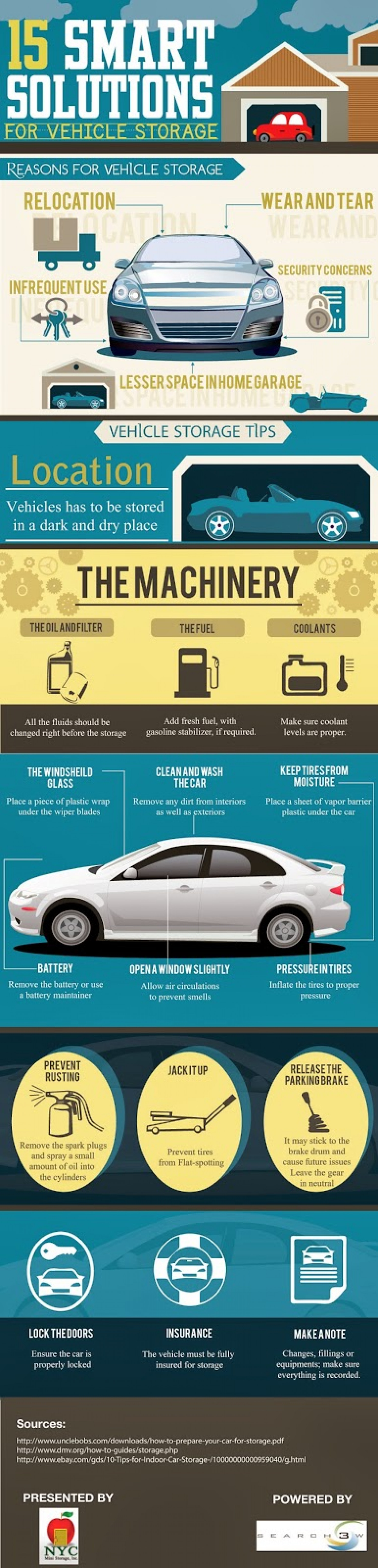 Vehicle Storage Tips Infographic