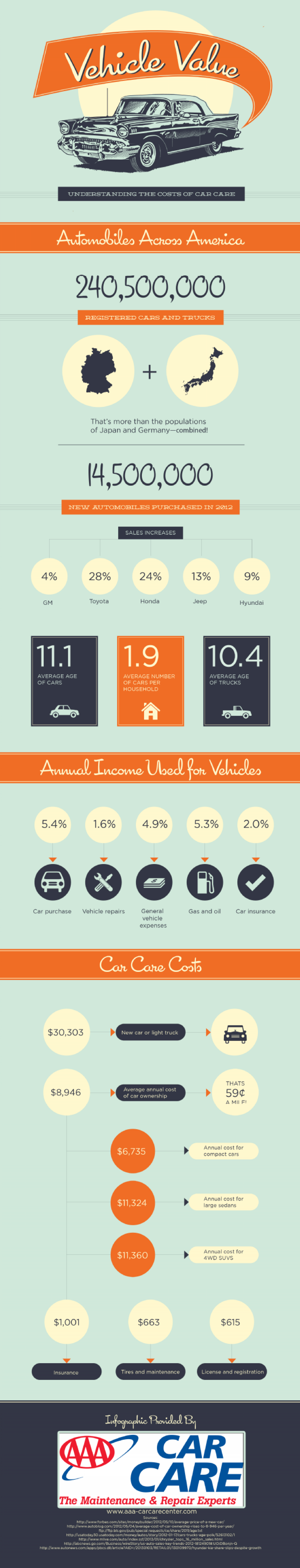 Vehicle Value: Understanding the Costs of Car Care  Infographic