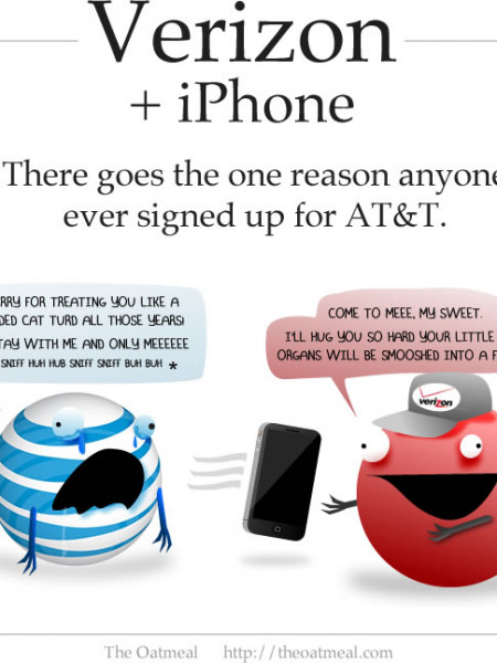 Verizon iPhone: There Goes the Only Reason to Sign Up for AT&T Infographic