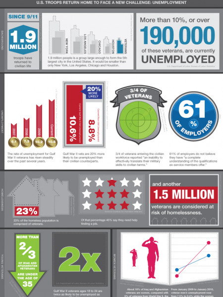 Veterans and Jobs Infographic