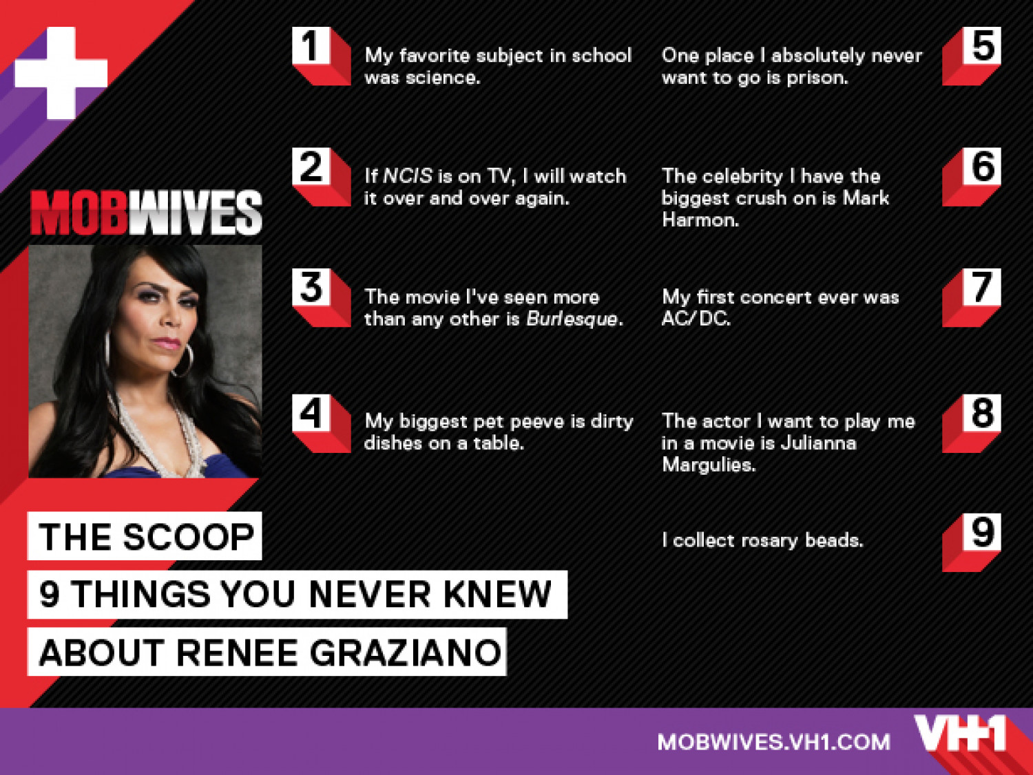 VH1 Mob Wives Infographic: Renee Graziano Infographic