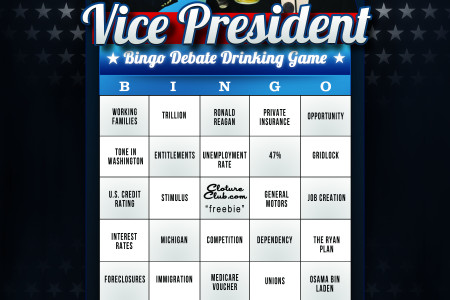 Vice Presidential Debate Drinking Game Infographic
