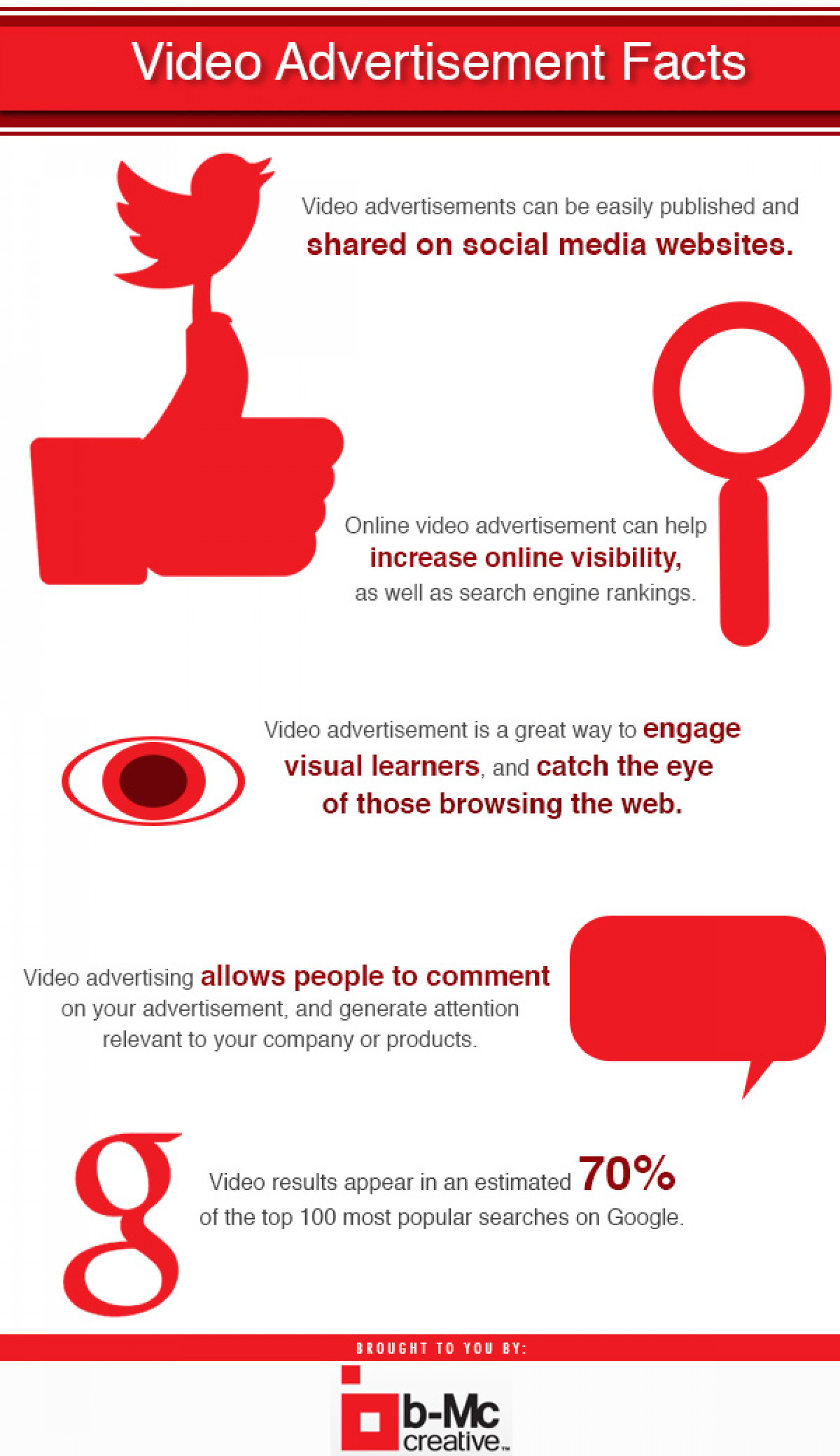 Video Advertisement Facts Infographic