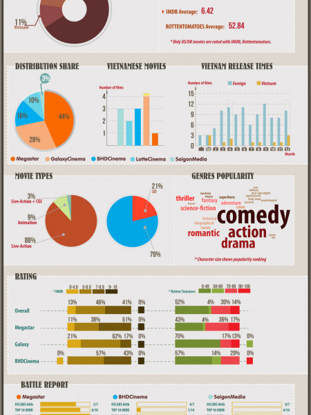 Vietnam Cinema 2011 Report (English Version) Infographic