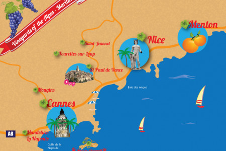 Vineyards of the Alpes Maritimes Infographic