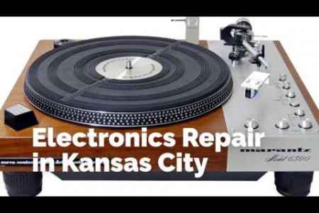 Vintage Turntable & Stereo Infographic