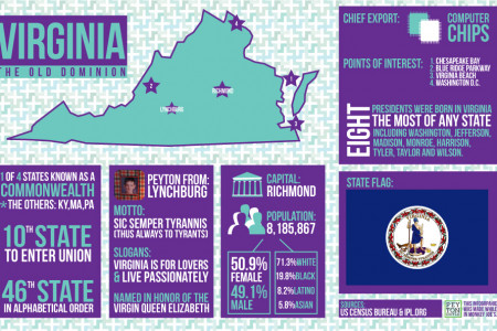 Virginia State Infographic Infographic