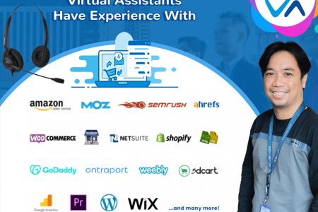 Virtual Assistants For eCommerce and Retail Industry Infographic