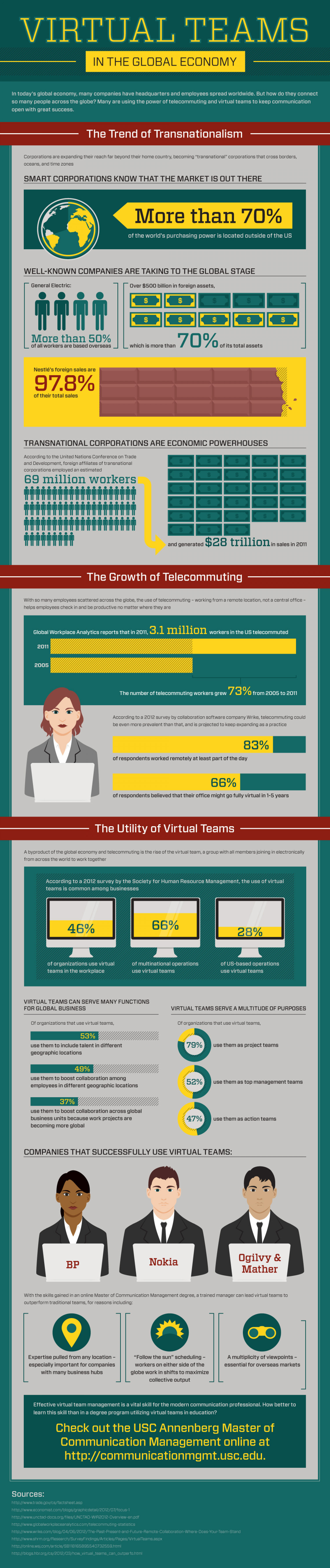 Virtual Teams in the Global Economy Infographic