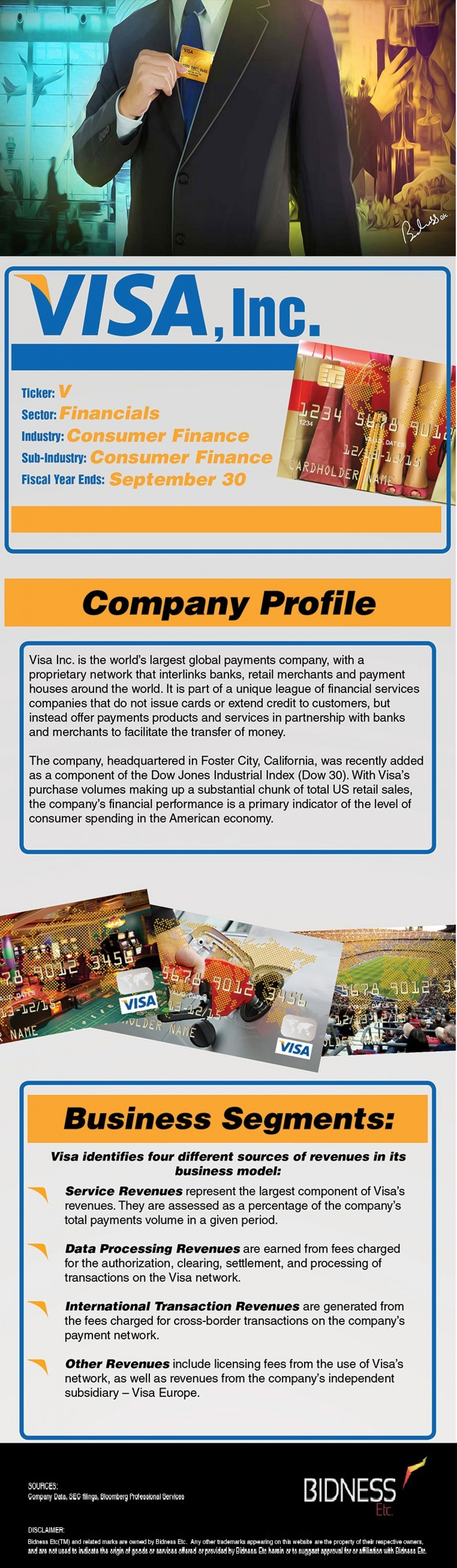 Visa (V) Company Description Infographic