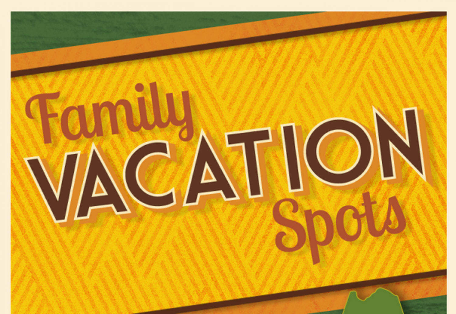 Family Vacation Spots Infographic
