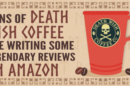 Visual Representations of Some of Death Wish Coffee's Best Amazon Reviews Infographic
