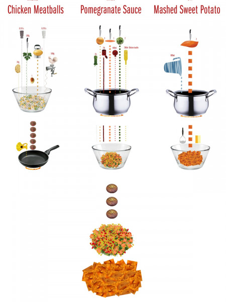 Chicken Meatballs and Mashed Sweet Potatoes Infographic