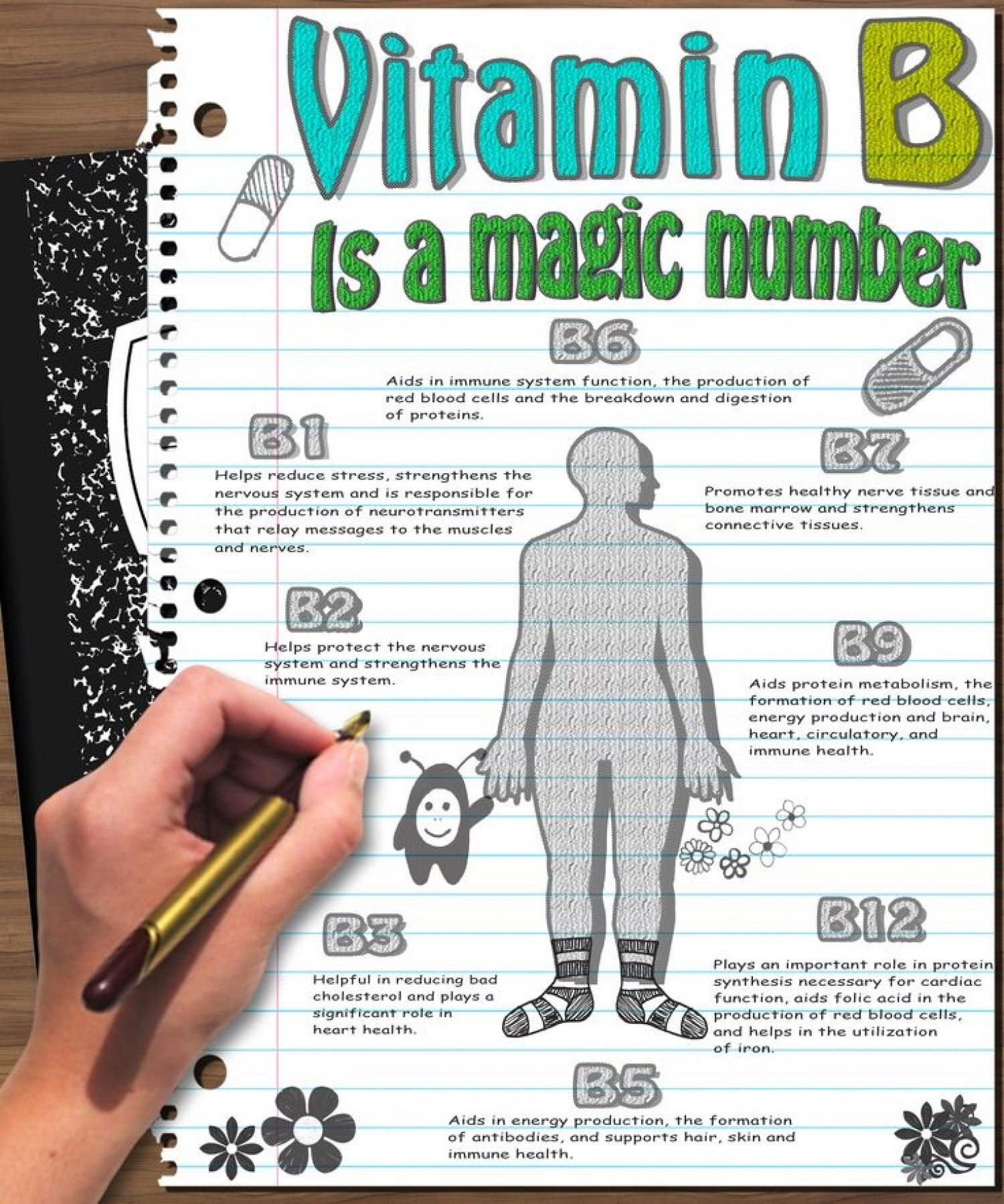 Vitamin B is a Magic Number Infographic