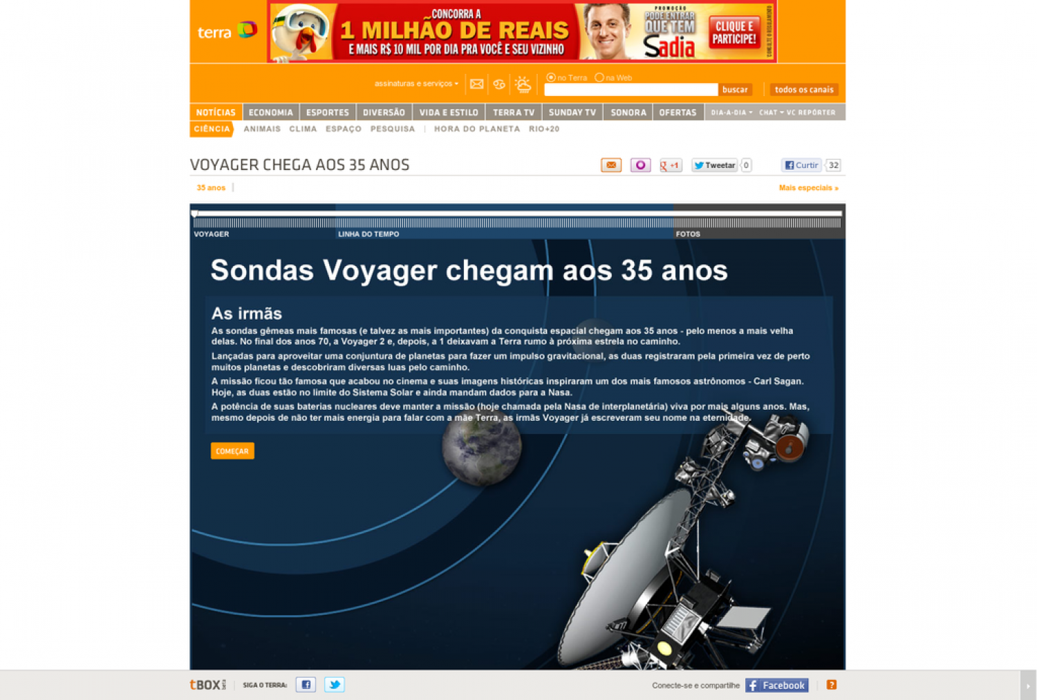 Voyager 35 anos Infographic