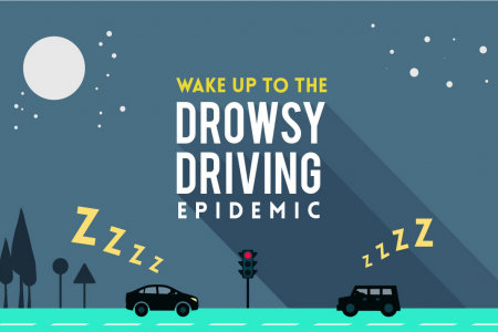 Wake Up to the Drowsy Driving Epidemic Infographic