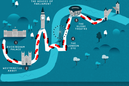Walk Around London in a Day Infographic