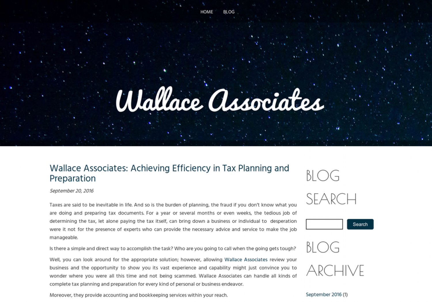 Wallace Associates: Achieving Efficiency in Tax Planning and Preparation Infographic
