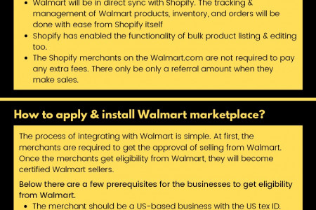 Walmart & Shopify Teams up together for Expanding their Marketplaces Infographic