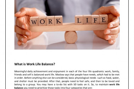 Want to Enjoy Life and Work Efficiently at the Same Time? Infographic