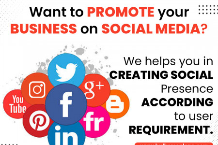Want to promote your Business on social media? We helps you in creating social presence according to user requirement. Infographic