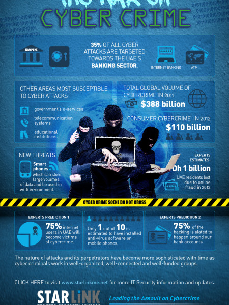 War on Cybercrime Infographic