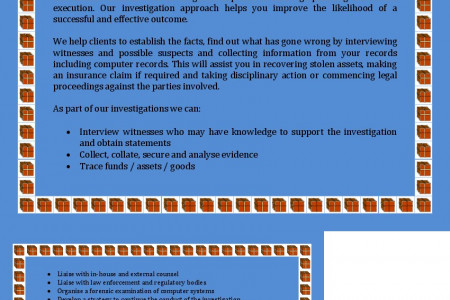 Warfield and Associates: Investigation Services Infographic