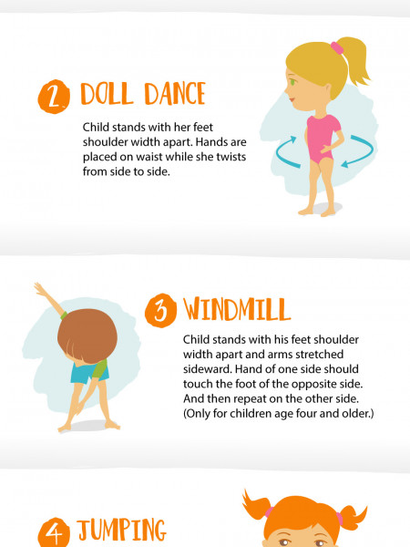 Warm-up Activities for Kids Infographic