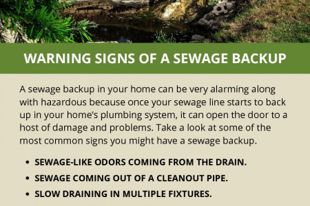 WARNING SIGNS OF A SEWAGE BACKUP Infographic