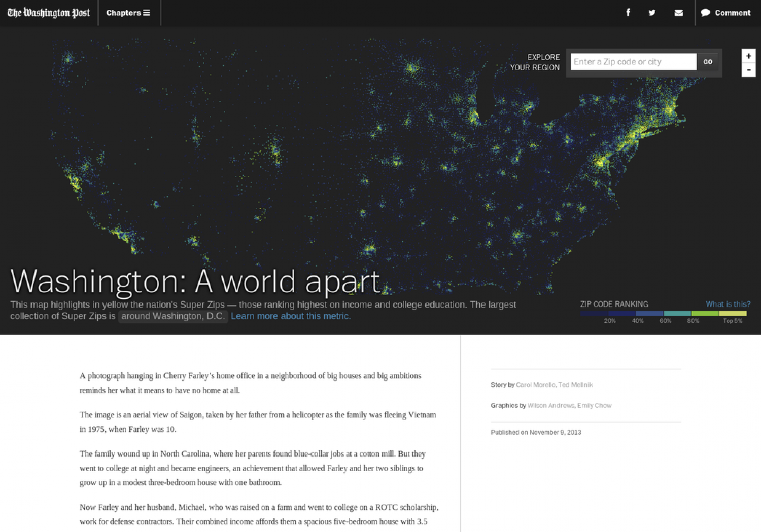 Washington: A World Apart Infographic