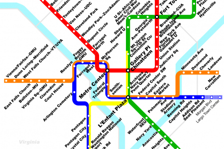 Washington D.C. metro map Infographic