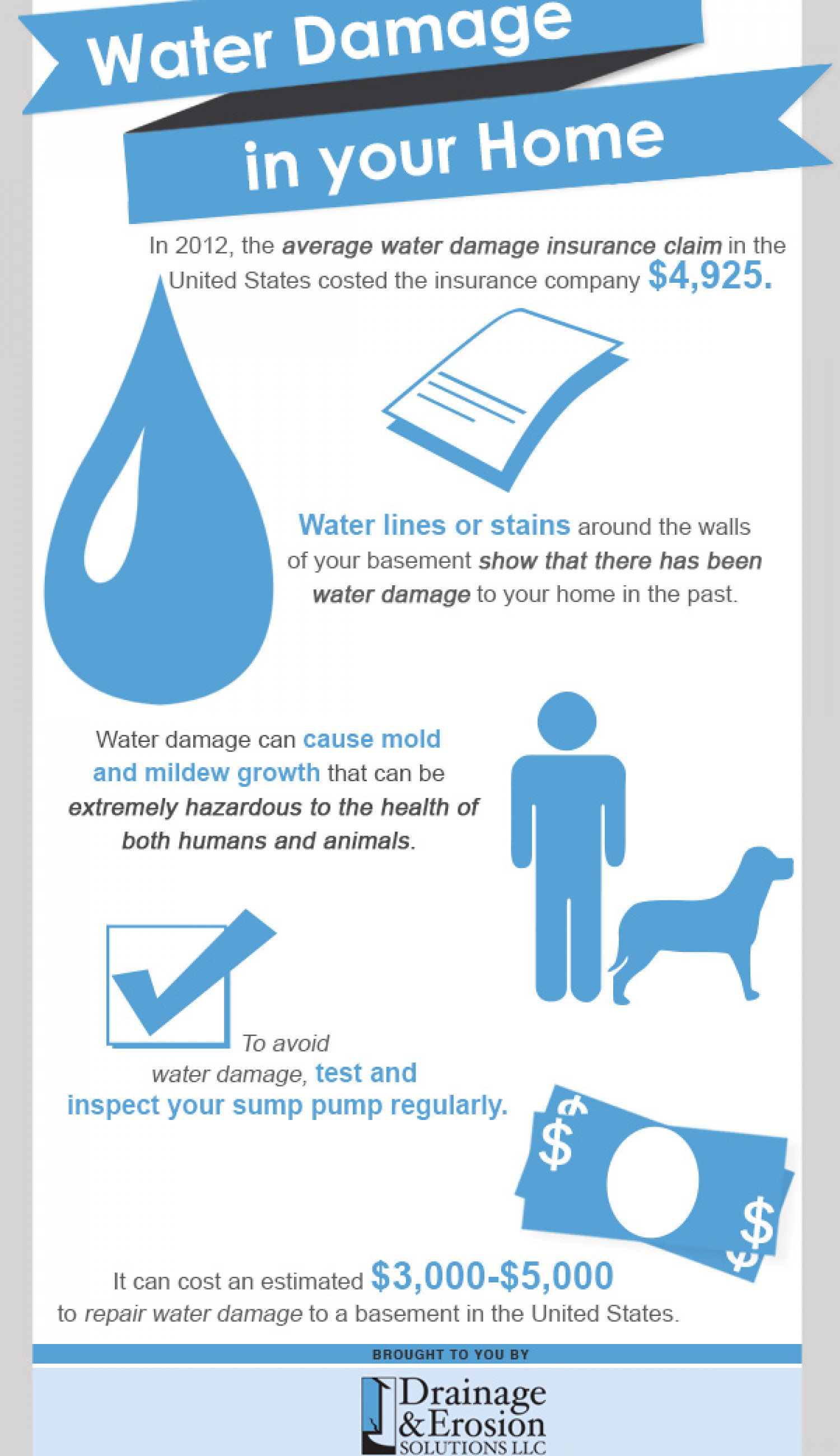 Water Damage in your Home Infographic