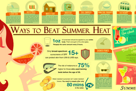 Ways to Beat Summer Heat Infographic