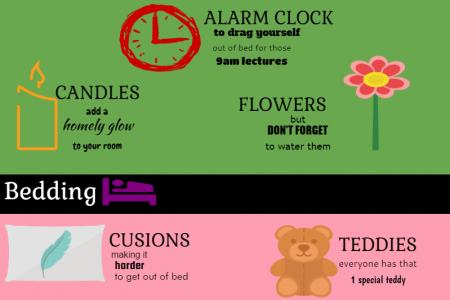Ways To Make University Halls Feel Like Home Infographic