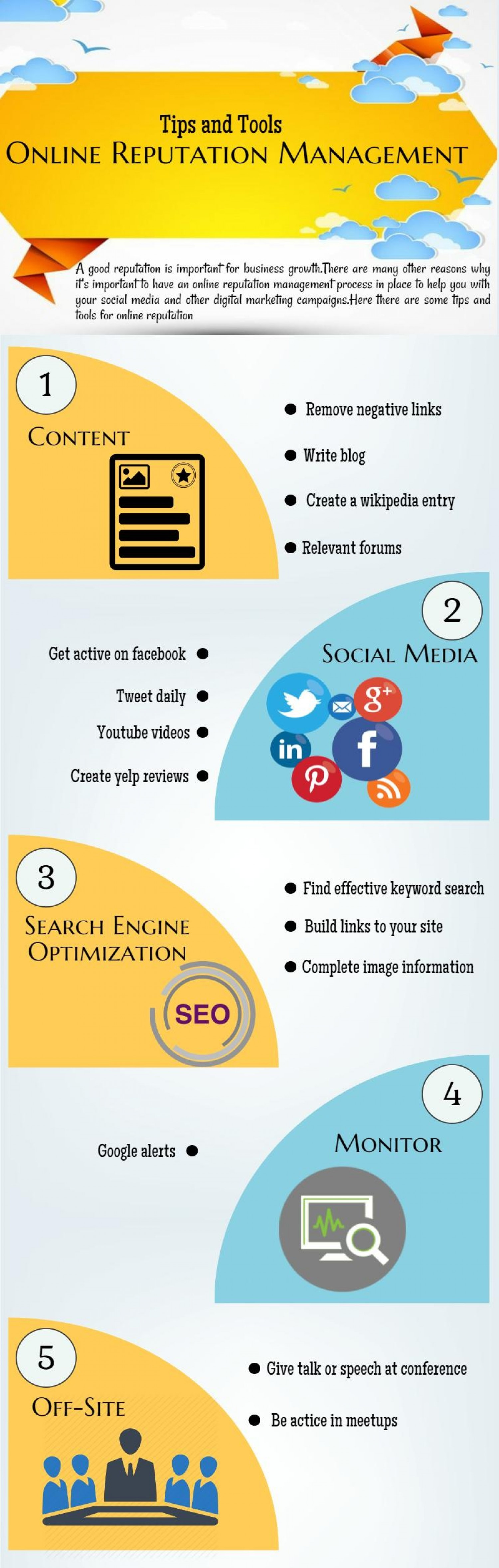 Ways to Use Social Media for Online Reputation Management Infographic