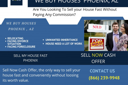 We buy houses for cash in Phoenix regardless of your home's condition. Infographic
