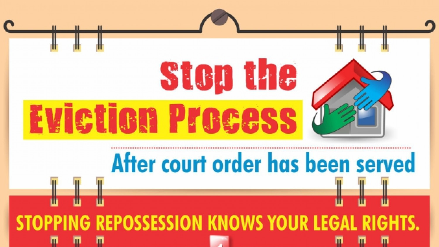 Stop The Eviction Process Infographic
