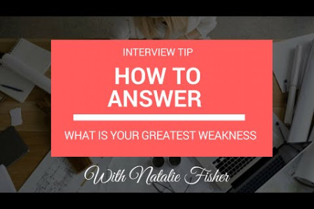 Weaknesses interview question Infographic