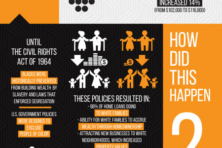 Wealth and Racial Inequality in the United States - Infographic by Simplida Infographic
