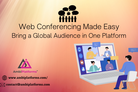 Web Conferencing Made Easy - Bring a Global Audience in One Platform Infographic