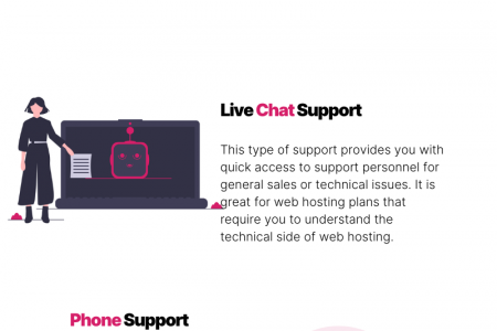 Web Hosting Facts: Types of Customer Support Offered by Web Hosts Infographic